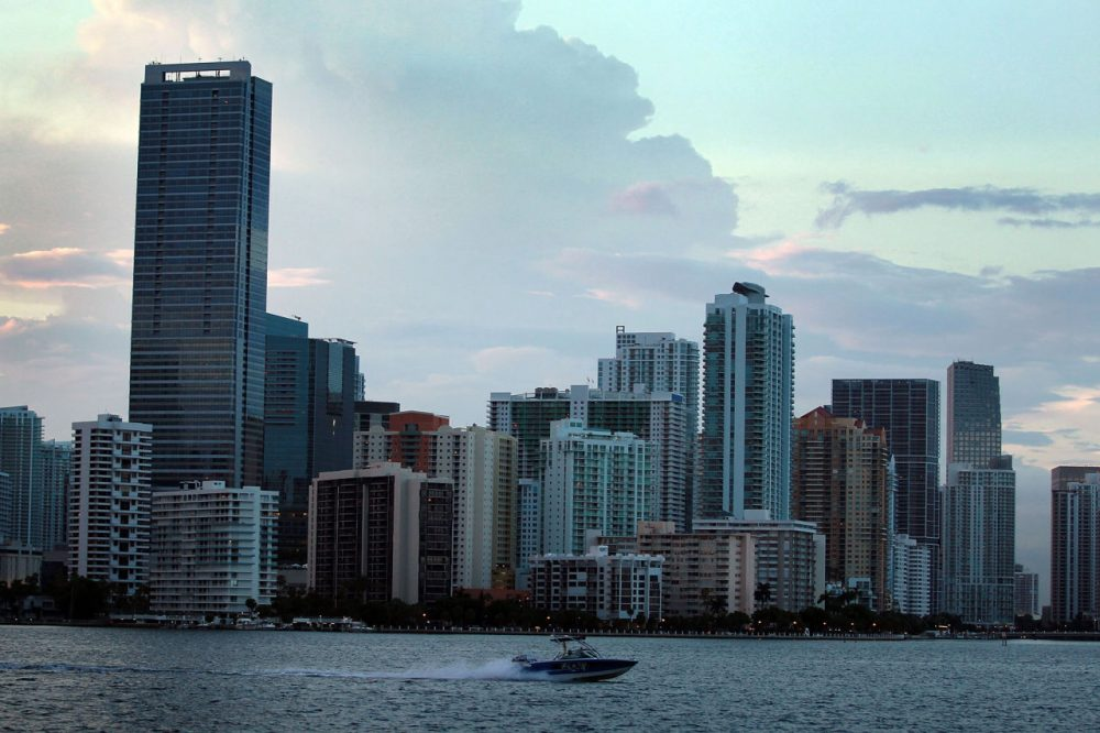 The City of Miami skyline is seen on August 6, 2010 in Miami, Florida. (Joe Raedle/Getty Images)