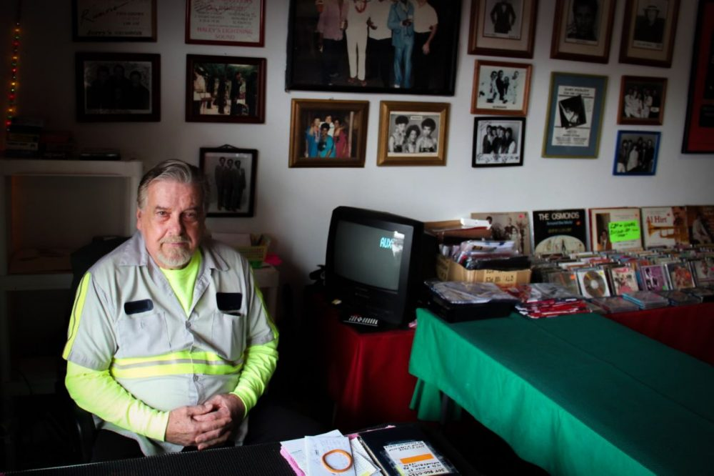 Jerry Lee Edwards, 73, sits in his Waynesburg, Pennsylvania store, where he sold work clothes to natural gas workers. His business, which is closing this spring, is one of the casulaties of the slowdown in Pennsylvania's once booming natural gas industry. Photo: Reid Frazier