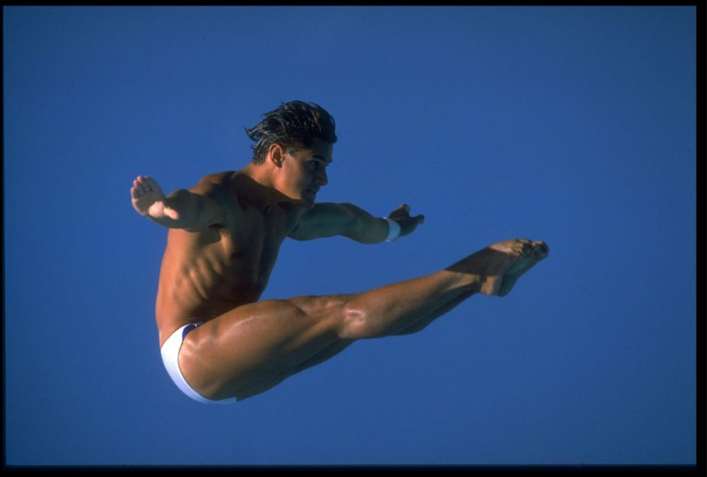 Greg Louganis won four Olympic Gold Medals, but, until recently, was denied a spot on the cover of a Wheaties cereal box. (Mike Powell/Allsport)