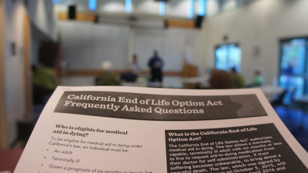 As the End of Life Option Act enactment date approaches, advocates have launched a campaign to educate Californians about the law. (Saul Gonzalez)