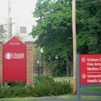 An entrance to UMass-Amherst (Deborah Becker/WBUR)