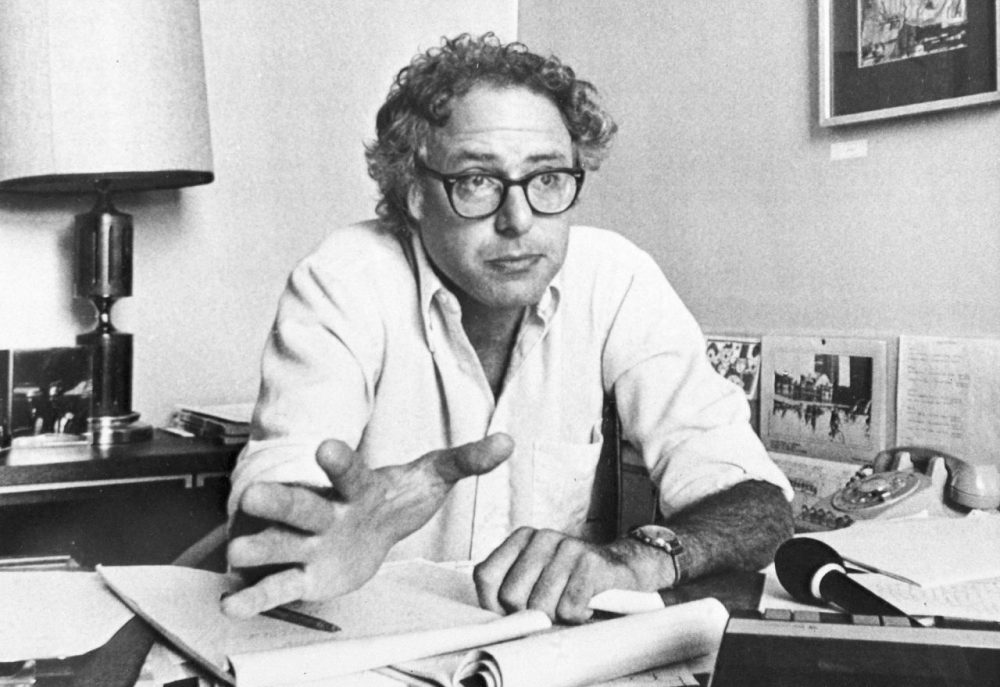 Bernie Sanders in September 1981, six months after he was elected mayor of Burlington, Vermont. It's where Sanders' political career began — and where his policies continue to shape the city. (Donna Light/AP)