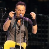 Bruce Springsteen, pictured on Feb. 12, 2016, canceled a recent concert in North Carolina, citing the state's new law blocking anti-discrimination rules covering the LGBT community. (Owen Sweeney/AP)