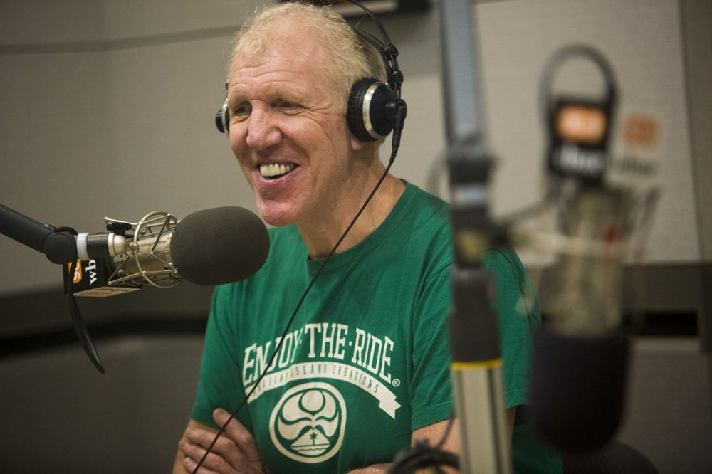 """Much of Bill Walton's life was spent in debilitating, chronic pain. Now, after spine surgery, he's pain-free and """"the luckiest man in the world."""" He stopped by Only A Game to share his story. (Jesse Costa/WBUR)"""