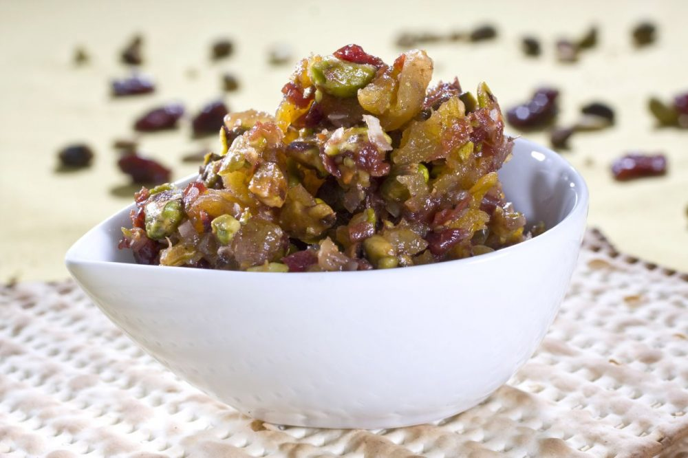 Charoset, a chutney-like condiment, is a dish in the Passover Seder that is packed with flavor. (Larry Crowe/AP)