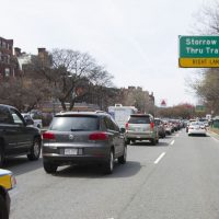 Traffic on Storrow Drive. (Joe Difazio for WBUR)