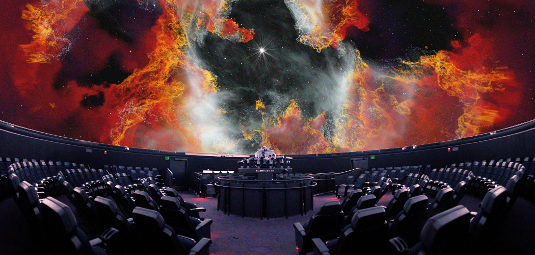 The planetarium in the Museum of Science as seen during March's David Bowie tribute. (Courtesy Charles Hayden Planetarium)