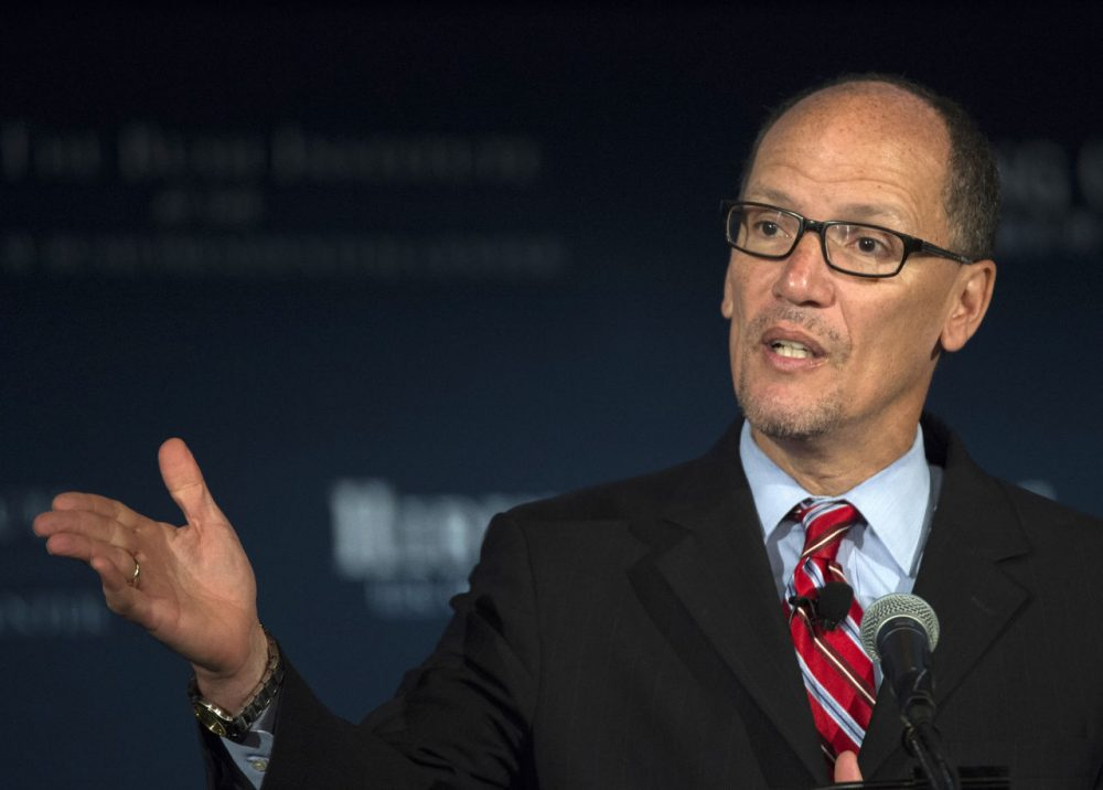Labor Secretary Thomas Perez speaking in 2015. (Molly Riley/AP File)