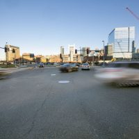 Seaport Boulevard, in the heart of South Boston's Innovation District (Jesse Costa/WBUR)