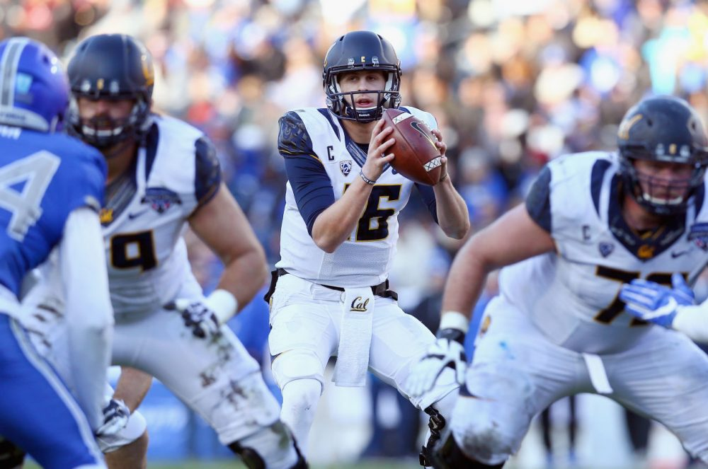 Jared Goff #16 of the California Golden Bears, is the likely number one pick in the draft. (Tom Pennington/Getty Images)