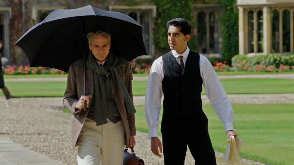 "In ""The Man Who Knew Infinity,"" Dev Patel plays real-life mathematician Srinivasa Ramanujan and Jeremy Irons plays English mathematician G.H. Hardy. (IFC Films)"