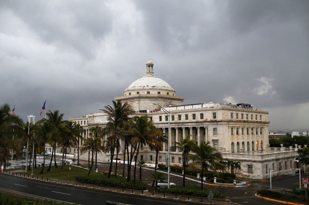 The Puerto Rican Capitol building is seen as the island's residents deal with the government's $72 billion debt on July 1, 2015 in San Juan, Puerto Rico. (Joe Raedle/Getty Images)