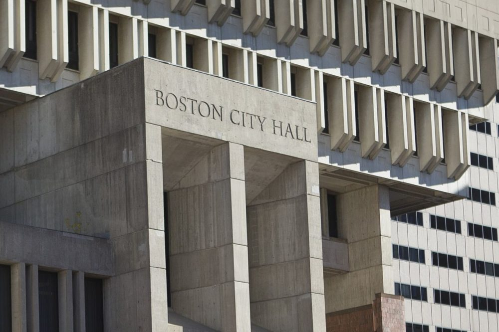 Boston City Hall is seen in November 2015. (Jesse Costa/WBUR)
