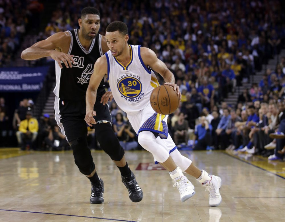Steph Curry and the Warriors' won the regular season series with the Spurs. Will it be more of the same if these two sides meet in the Western Conference Finals? We'll just have to wait and see. (Marcio Jose Sanchez/AP)