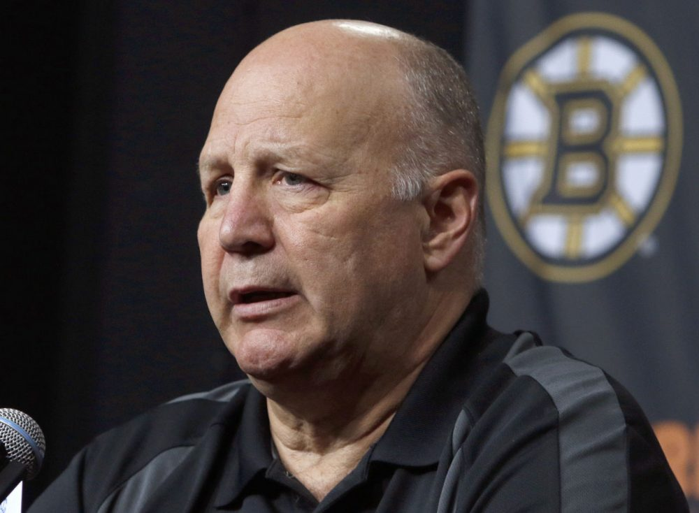 Boston Bruins head coach Claude Julien speaks at a news conference at TD Garden in Boston. (Bill Sikes/AP)