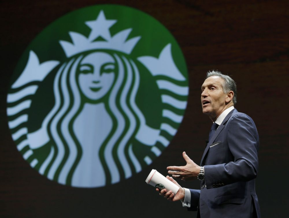 Dan Payne argues that Starbucks CEO Howard Schultz could be an interesting vice presidential pick for Hillary Clinton. (Ted S. Warren/AP)