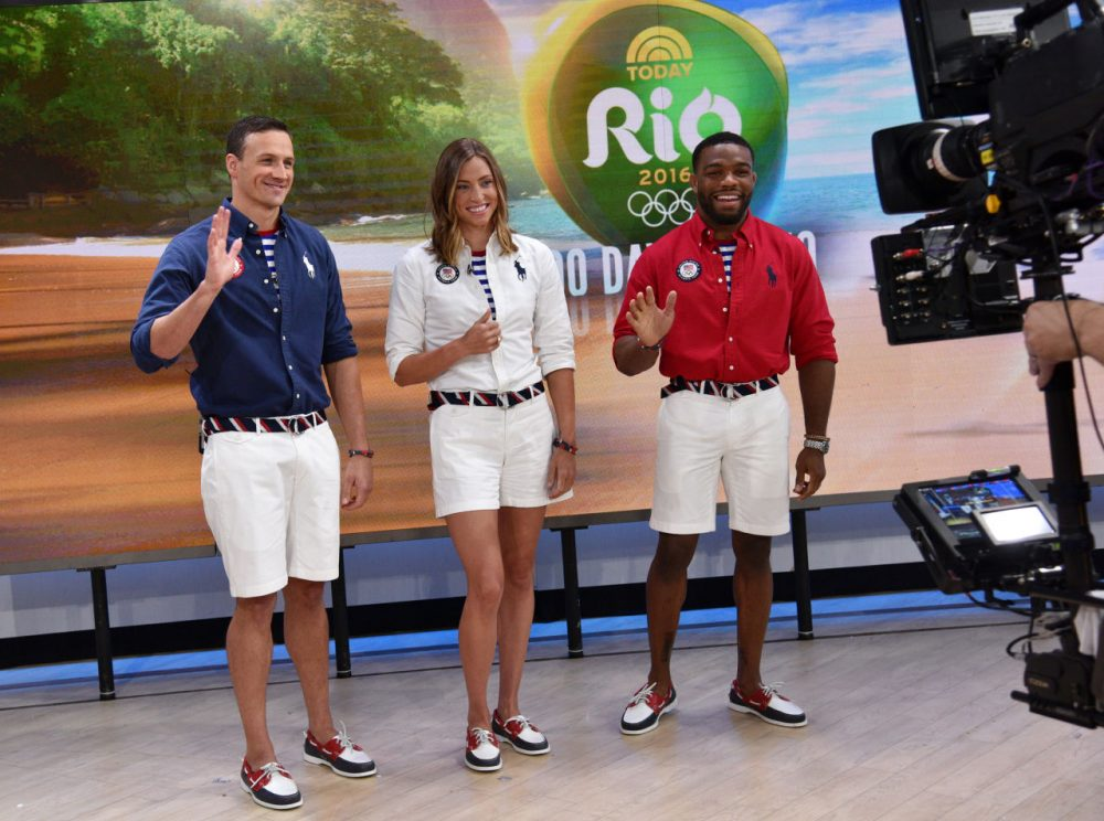Team USA's Olympic uniforms were unveiled this week. Charlie thinks they should probably lose the striped belt. (Bryan Bedder/NBC)