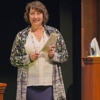 "Adrianne Krstansky in ""Blackberry Winter"" at New Repertory Theatre. (Courtesy Andrew Brilliant/New Repertory Theatre)"