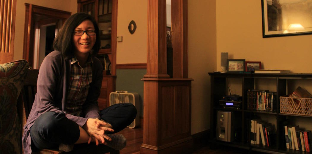 Jennifer Lin-Weinheimer, founder of a new grant-making fund aimed at the nexus of creativity and wellness, pictured at home. (Courtesy Diego Tang/The CreateWell Fund)