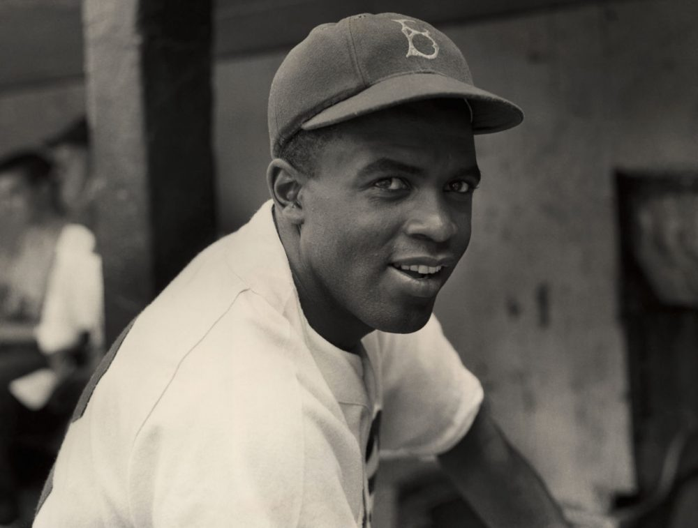 Jackie Robinson, the first African-American MLB athlete. (Courtesy Hulton Archive Getty Images/PBS)
