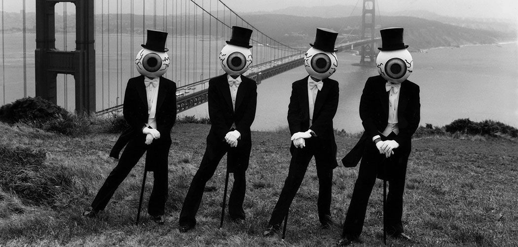 The Residents at San Francisco's Golden Gate Bridge in 1979. (Courtesy The Residents)