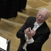 Conductor William Christie leads Les Arts Florissants in performance (Courtesy Pascal Gely)