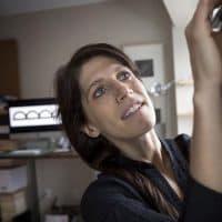 Olivia D'Ambrosio, producing artistic director of Bridge Repertory Theater. (Robin Lubbock/WBUR)