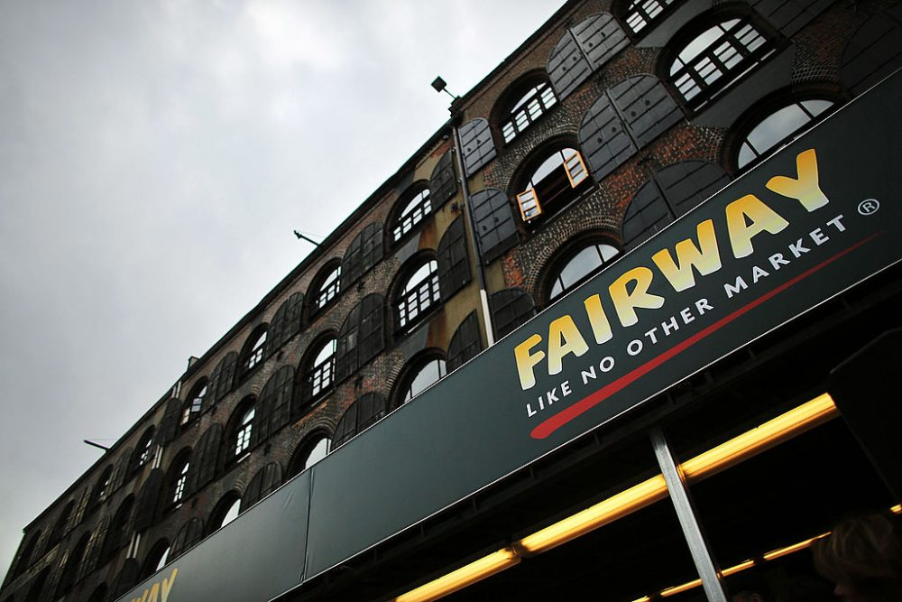 The building housing the Fairway Market on the waterfront in Red Hook, Brooklyn is viewed on March 1, 2013 in New York City. (Spencer Platt/Getty Images)