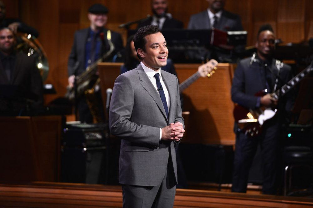 """Jimmy Fallon during """"The Tonight Show Starring Jimmy Fallon"""" at Rockefeller Center on February 17, 2014 in New York City.  (Theo Wargo/Getty Images for The Tonight Show Starring Jimmy Fallon)"""