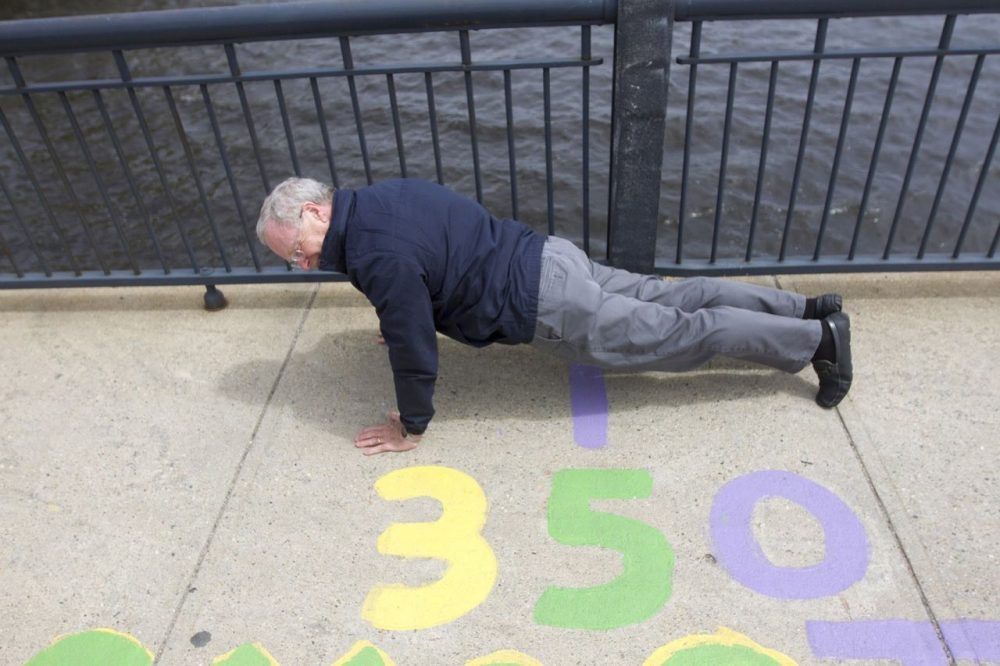 "Oliver Smoot who stands at 5'7"" was used to measure the Massachusetts Avenue Bridge as part of a MIT fraternity prank in 1958. The markings on the bridge and the legacy of the unit of measurement know as the Smoot live on. (Joe Difazio/WBUR)"