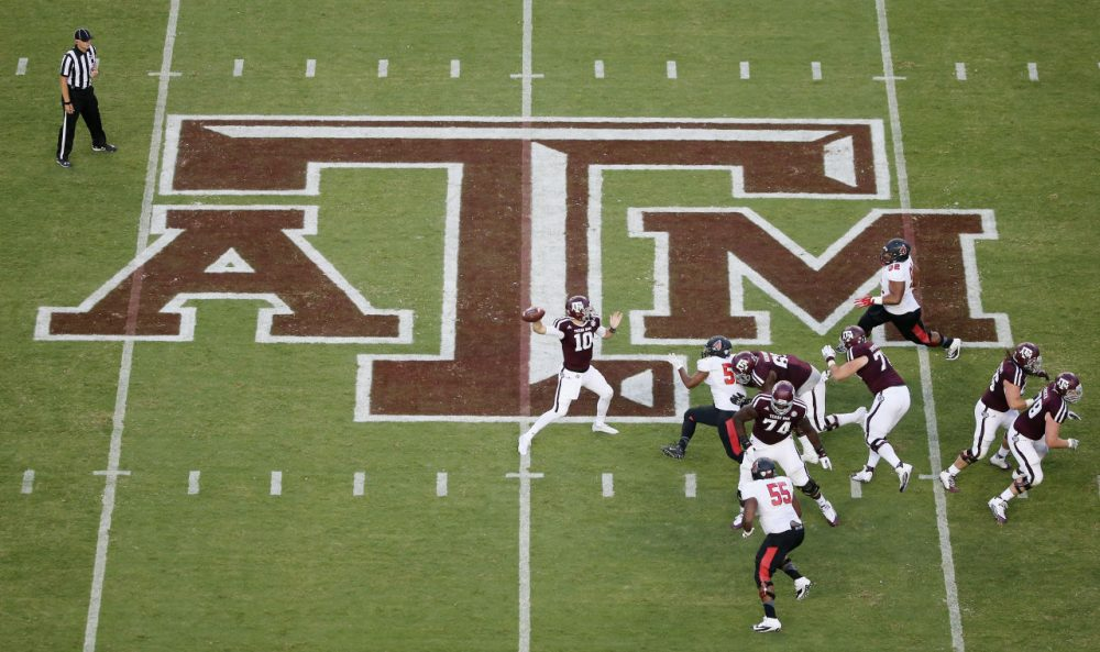 The Twitterverse didn't appreciate a series of tweets from Texas A&M's wide receivers coach. (Scott Halleran/Getty Images)