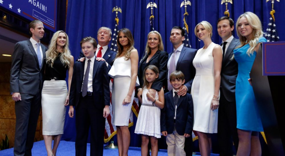 Does parenting style tell us everything we need to know about a candidate? Donald Trump poses with his family after his announcement that he will run for president. (Richard Drew/AP)