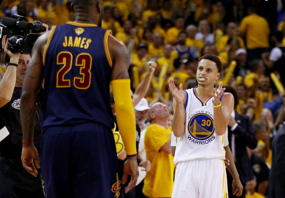 Bill Littlefield hopes LeBron James and Stephen Curry will meet again this June. (Ezra Shaw/Getty Images)