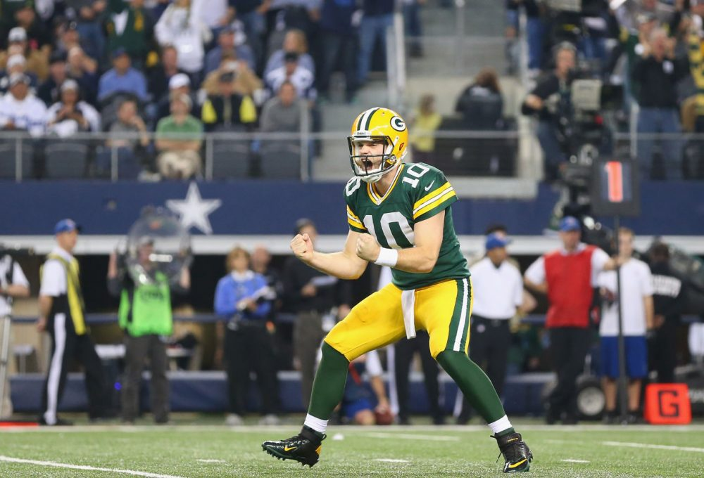 Why is former Packers quarterback Matt Flynn excited? He just sold his car for $7,000. (Ronald Martinez/Getty Images)