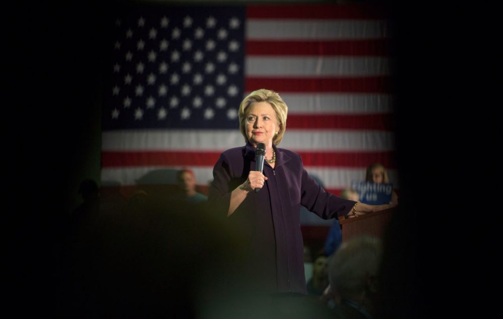 Democratic presidential candidate  Hillary Clinton  speaks at a campaign event at Camden County College on May 11, 2016 in Blackwood, New Jersey. Residents of New Jersey will vote in the Democratic primary on June 7, 2016. (Jessica Kourkounis/Getty Images)