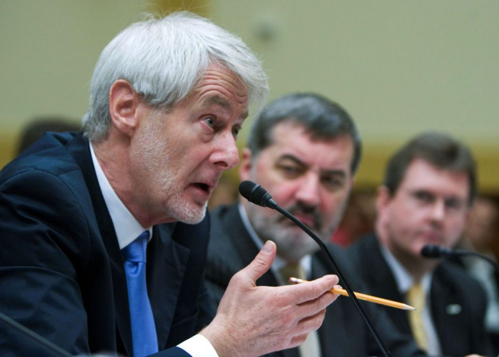 UMass Boston Professor Padraig O'Malley testifies at a House briefing on political reconciliation in Iraq in 2008. (Manuel Balce Ceneta/AP)
