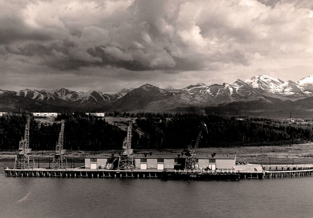 Terminal 1 of the port, completed in 1961.  (Photo/Courtesy Port of Anchorage via Alaska Public Media)