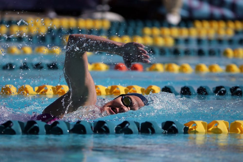 Kirsty Coventry competes in the prelims of the women's 200 meter individual medley at the Skyline Aquatic Center on April 16, 2016 in Mesa, Arizona. (Photo by Chris Coduto/Getty Images)