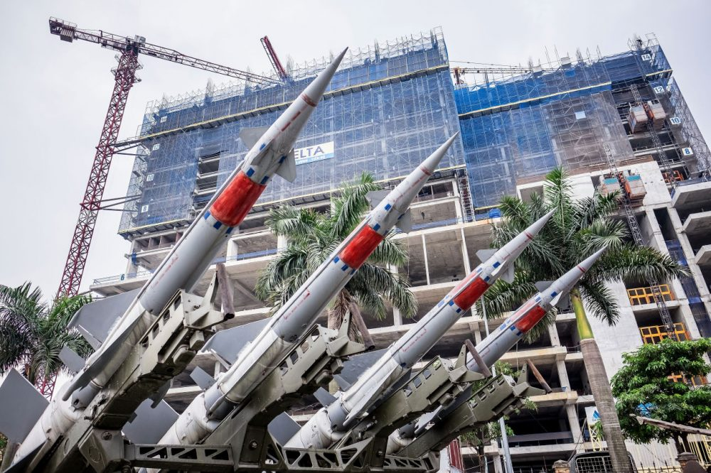 Models of missiles at the Vietnam People's Air Force Museum on May 23, 2016 in Hanoi, Vietnam. U.S. President Barack Obama announced the U.S. is fully lifting its embargo on sales of lethal weapons to Vietnam during the first day of his historic visit four decades after the Vietnam war.  (Linh Pham/Getty Images)