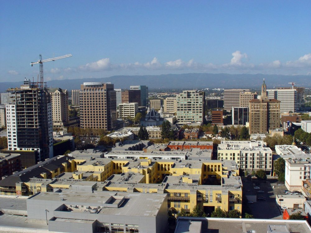 Silicon Valley's capital city San Jose, California as seen in this aerial photo is undergoing an urban development revolution calculated to keep it as the thriving heart of a region renowned for technological innovation. (Helene Labriet-Gross/AFP/Getty Images)