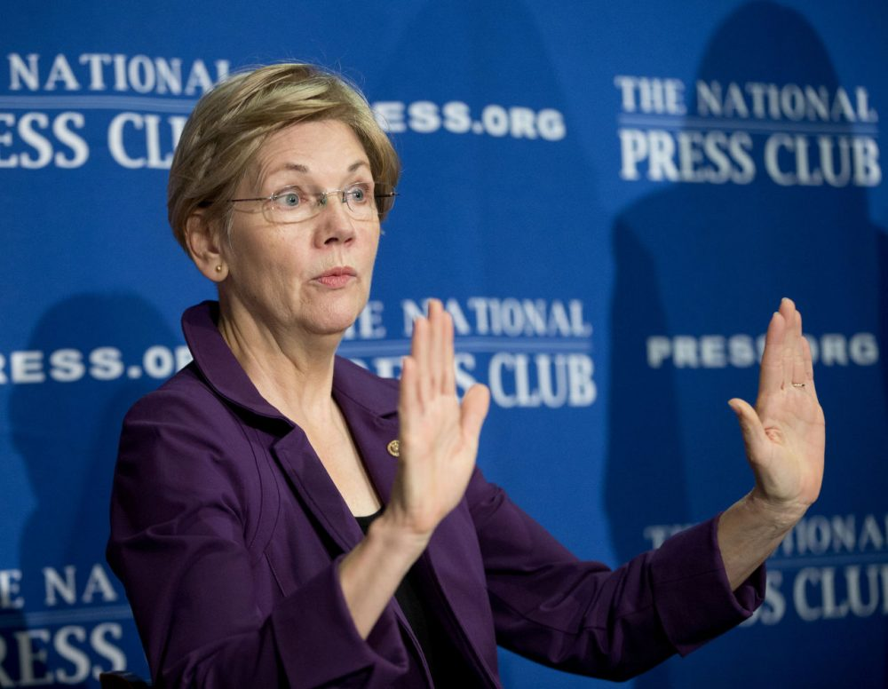 Sen. Elizabeth Warren, D-Mass.  (Pablo Martinez Monsivais/ AP)