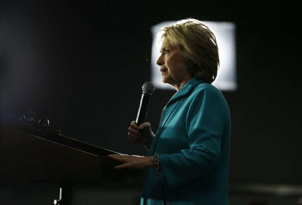 It's about Clinton, not Sanders, writes Dan Payne. (John Locher/AP)