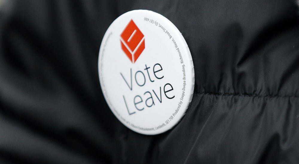 "Phil Budden: ""Make no mistake: Britain's upcoming sovereign decision matters greatly to those in the U.S. Here's why."" A Pro-Brexit campaigner hands out leaflets at Liverpool Street station in London. (Frank Augstein/AP)"