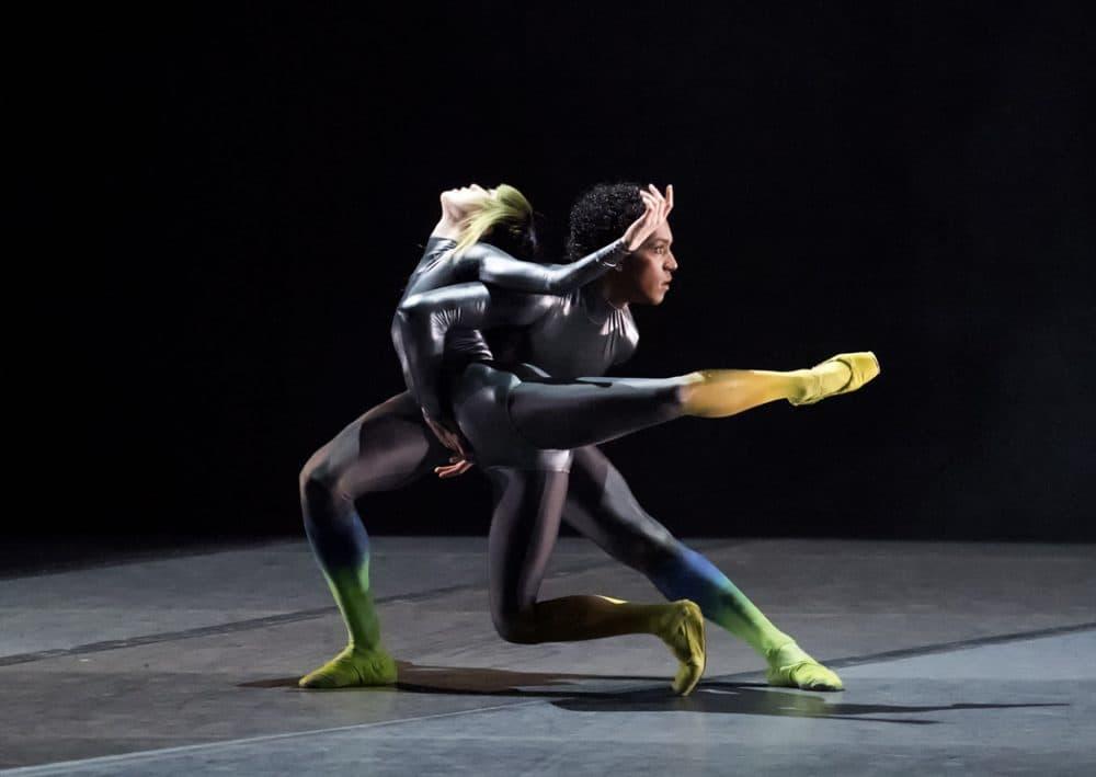 "Misa Kuranaga and Irlan Silva in Karole Armitage's ""Bitches Brew."" (Courtesy of Gene Schiavone/Boston Ballet)"