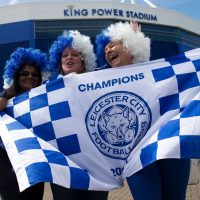 Leicester City fans had plenty to celebrate this week after their team won an improbable English Premier League title. The only ones who weren't rejoicing? Bookmakers.  (Justin Tallis/Getty Images)