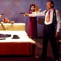 "(L-R) Geoffrey Rivas,  Evelina Fernández and Sal Lopez in ""Premeditation."" (Courtesy Ed Krieger/ArtsEmerson)"