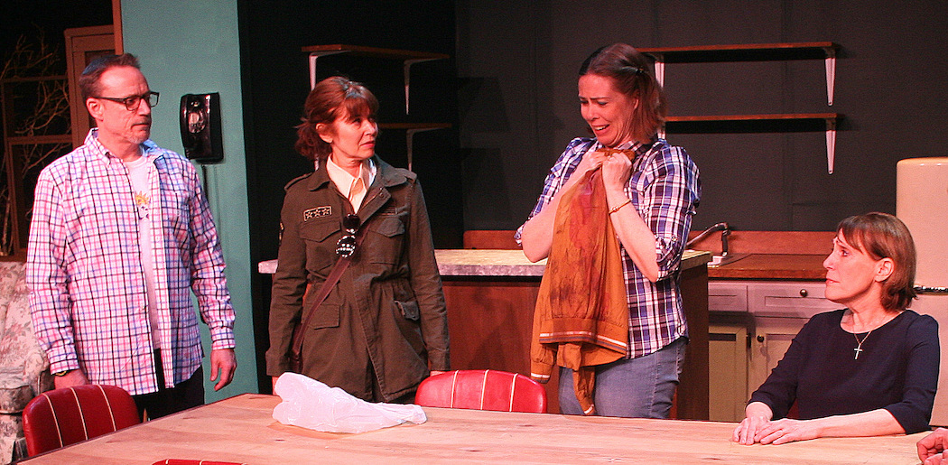 """Thomas Grenon , Kathy LaShay Bernson, Christine Power and Shelley Brown in Zeitgeist Stage Company's production of """"A Great Wilderness.""""  (Courtesy Richard Hall/Silverline Images)"""
