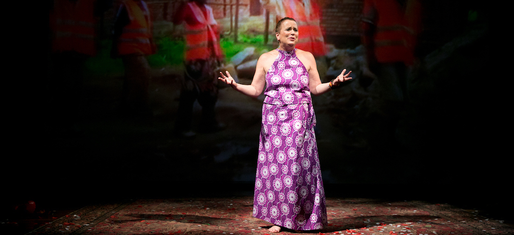"""Eve Ensler in """"In the Body of the World."""" (Courtesy Evgenia Eliseeva/American Repertory Theater)"""
