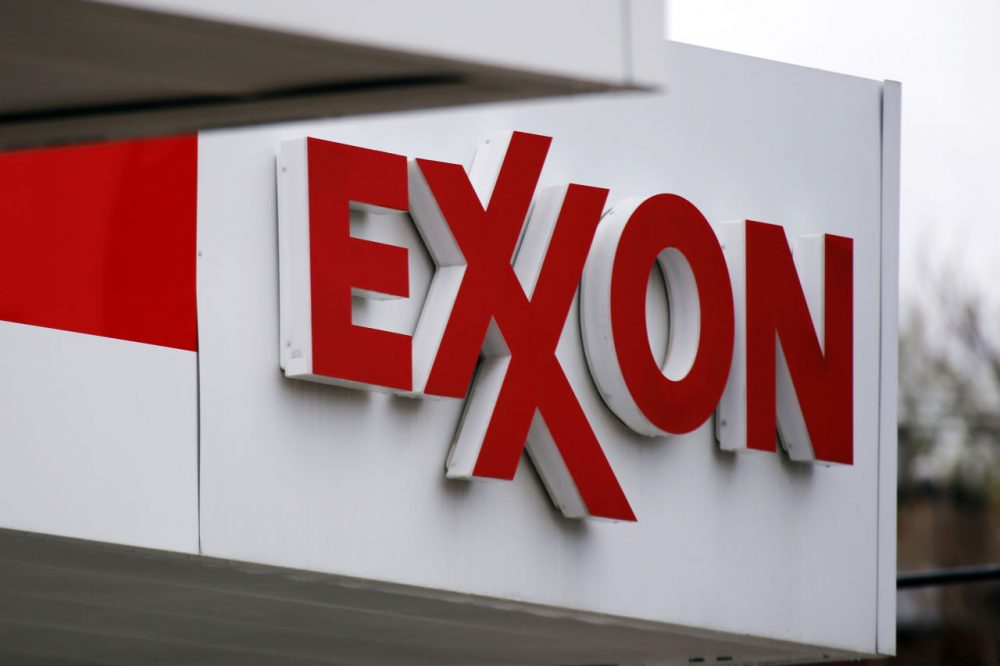 This 2014 file photo shows an Exxon sign at a gas station in Carnegie, Pa. (Gene J. Puskar/AP)