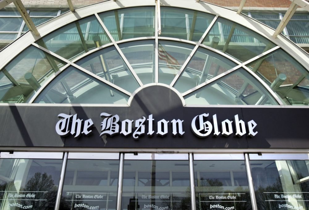 The facade of The Boston Globe building in Dorchester. The paper's editor recently made announcements about upcoming buyouts and a 'reinvention initiative.' (AP Photo/Elise Amendola)